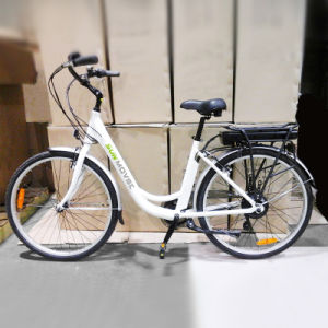 "26"" City Electric Bike with Shimano 7 Speed pictures & photos"