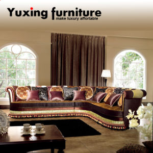 Corner Sofa Classical Upholstery Sectional Fabric Couch Chaise Lounge for Living Room Furniture Set pictures & photos