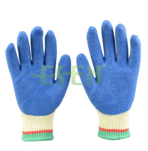 Cotton Interlock Shell Nitrile 3/4 Coated Safety Work Gloves pictures & photos