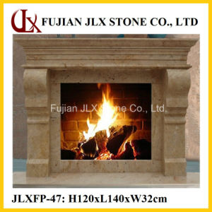 Yellow Marble Stone Home Decor Fireplace pictures & photos