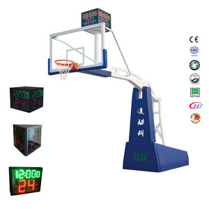 Electric Hydraulic Tempered Glass Mobile Movable Basketball Goals for Competition pictures & photos