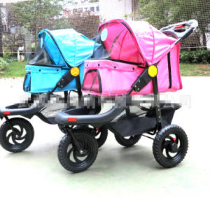 High Quality 3-Wheels Dog Outdoor safety Pet Stroller pictures & photos
