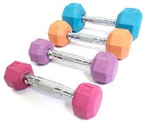 Gym Fixed Colorful Rubber Coated Hex Dumbbell pictures & photos