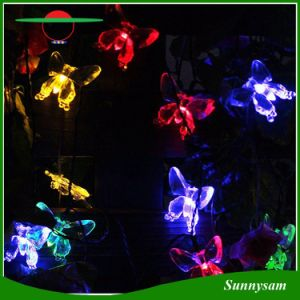 Solar Holiday Lighting Colorful Butterfly LED String Light Christmas Wedding Event Party Garden Decoration Lamps pictures & photos