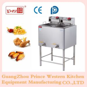 2 Tank 2 Basket Deep Fryer for Kfc Fried Chicken with Floor/ Electric Fryer pictures & photos
