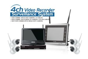 Wholesale Network Video Recorders 4 Channel CCTV IP Camera NVR Kit WiFi Wireless Cameras pictures & photos