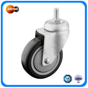 "1/2"" Thread Stem Casters with 4"" PU Wheel pictures & photos"