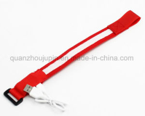 OEM Logo USB Rechargeable LED Luminous Sport Bracelet pictures & photos