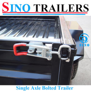 Sino 6X4 Medium Duty Single Powder Coating Box Trailer