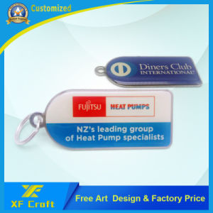 Customized Epoxy Both Side Printing Any Logo Metal Key Ring with Lower Price (XF-KC18) pictures & photos