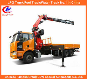 FAW LHD 8tons Loader Crane Truck in Folded Arm Crane pictures & photos