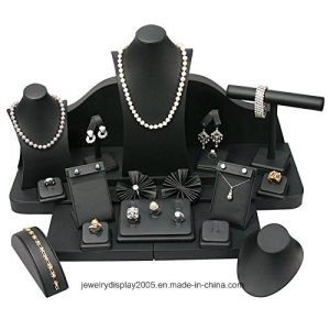 Jewelry Display 24 PCS Set. Black Faux Leather. pictures & photos