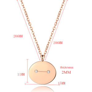 Fashion Jewelry Women Clavicle Necklace 316L Stainless Steel Cartoon Pendant pictures & photos
