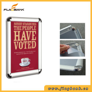 A4 Silver Aluminum Exhibition Snap Frame/Clip Frame pictures & photos