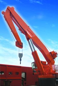 Hydraulic Telescopic Boom Crane for Marine pictures & photos