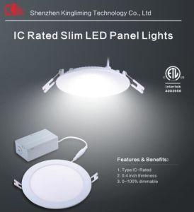 Slim LED Pot Lights (IC Rated) 8W LED Panel Light IC Rating LED Slim Panel Light pictures & photos