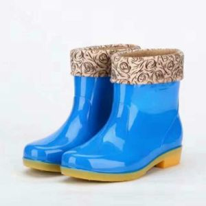Hot Selling Winter Ladies PVC Rain Boots pictures & photos