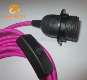 SAA Power Cord Plug with Switch and Light Socket Fabric Round Wire with Colors with 2 Prong Australia pictures & photos
