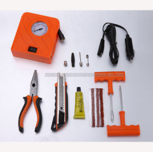 Mini Portable Tire Inflator Pump with Tire Repair Kits pictures & photos