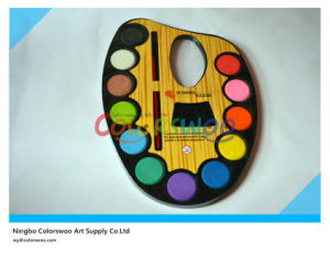 12 Color 2.8cm Glitter Water Color Cake with Brush for Painting and Drawing pictures & photos