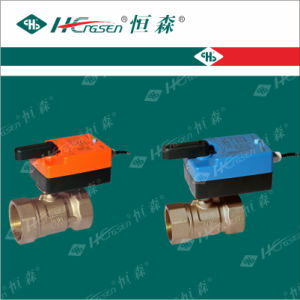 D Q F-D M Brass Motorized Ball Valve with Actuator for Heating, Ventilation and Air-Conditioning System pictures & photos