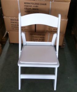 White Wedding Resin Folding Chair pictures & photos