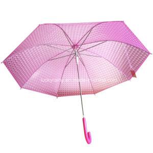 Plastic Transparent Poe Umbrella with Popular and Fashion 3D Design