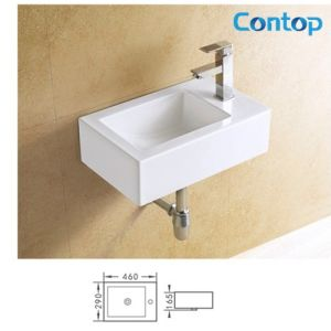 Ceramic Sanitary Ware Wall Hung Basin Wash Basin 8326 pictures & photos