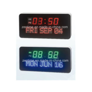 Electric LED Digital Wall Clock with Time and Calendar Display pictures & photos
