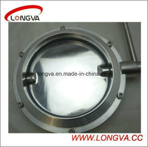 Big Size Sanitary Stainless Steel Welded Butterfly Valve pictures & photos