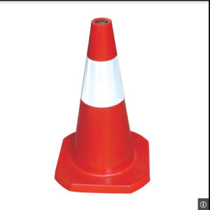 "American Standard 18"" Orange Red PVC Traffic Cones pictures & photos"