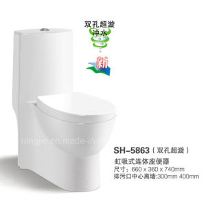 Hot Sales Hotel Bathroom Sabitary Ware Ceramic Toilet (NJ-5863) pictures & photos