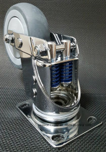 Shock Proof TPR Caster - Seawon - Double Spring pictures & photos