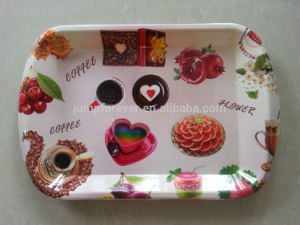 Printed Plastic Serving Tray with Handle