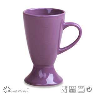 Footted Ceramic Stoneware Color Glaze Mug pictures & photos