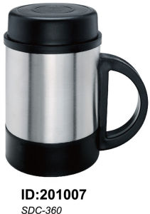 Non-Vacuum Cup 18/8stainless Steel Doubled Wall Mug Sdc-360 pictures & photos