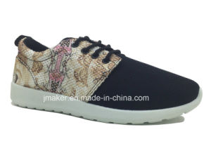 Fashion Ladies Running Shoe with Injection Sole (J2277-L)