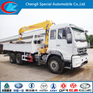 HOWO 6X4 Lorry Truck with 6.3 Truck Crane pictures & photos