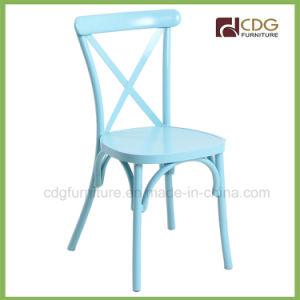 657s-H45-St Shabby Chic Metal Stackable Chair