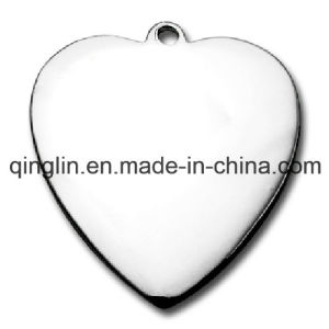 Custom Blank Heart Shape Fashion Pet Tag (QL-GP-0006) pictures & photos