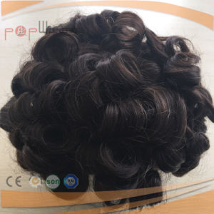 Full Hand Tied Mono Top Lace Human Hair PU Custom Wig pictures & photos