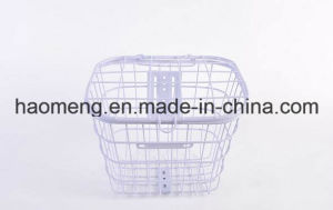 2016white Steel Front Bicycle Basket pictures & photos