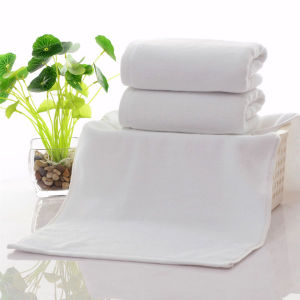Customized Design Elegant Cotton White Terry Embroidery Customized Bath Towels pictures & photos