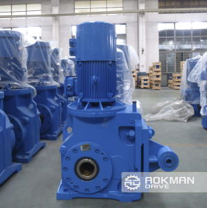 High Transmission Efficiency K Series Helical Bevel Gearbox pictures & photos