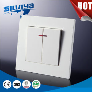 Two Gang One Way European Electric Wall Switch pictures & photos
