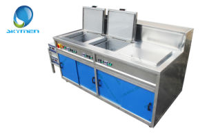 Skymen Three Tank Ultrasonic Cleaner for Coating Motor Parts pictures & photos