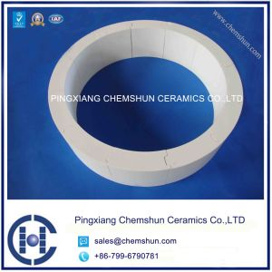 Ineterlocking Curved Alumina Ceramic Tile as Ceramic Liner pictures & photos