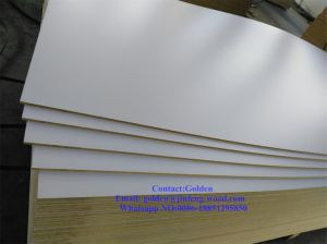 White Melamine Faced MDF (8mm) for Furniture pictures & photos