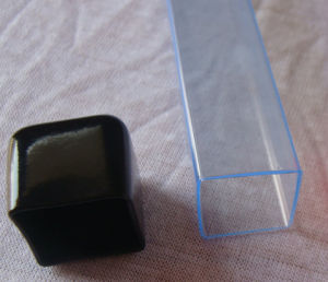 Clear Plastic Packaging Tube with Caps pictures & photos