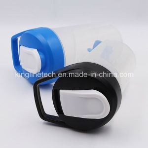 400ml New Design Plastic Protein Shaker Bottle with Blender Mixer Ball (KL-7039) pictures & photos
